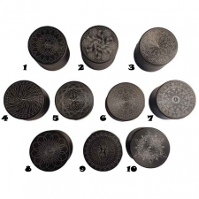 4 Piece Grinder Pollinator 2.5 Inch - Matte Black with Tribal designs