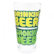 Drinking Beer Smoking Weed Pint Glass from StonerWare