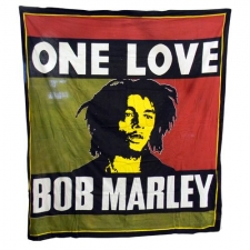Bob Marley double Bed Sheet / Tapestry - One Love