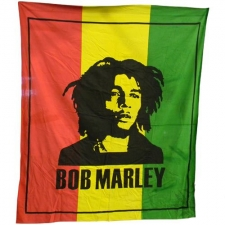 Bob Marley double Bed Sheet / Tapestry - Rasta