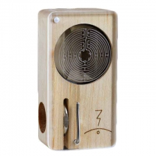 Magic Flight Launch Box Laser Etched Labyrinth Maple Wood Portable Vaporizer