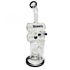 Zombie Glass Double Barrell Recycler with Fountain Perc