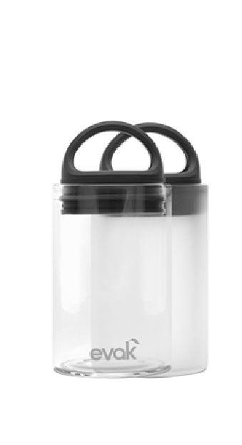 1 Mini Evak Frosted Glass Storage Container with Air Tight Lids 6 oz