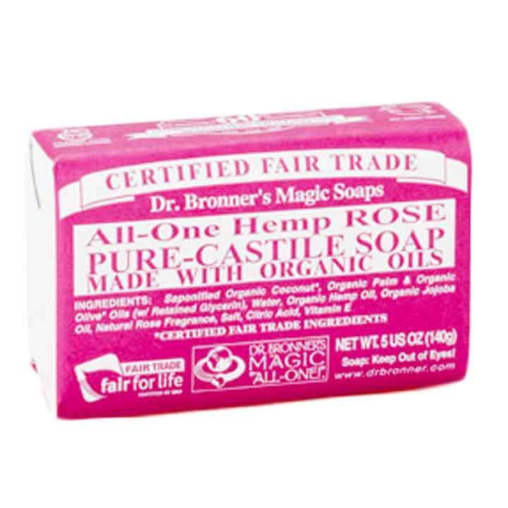 Dr  Bronner's All-in-one Hemp Rose Pure-castile Soap