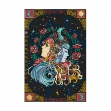 3D Tapestry Celestial Zodiak With Moon And Sun  60x90