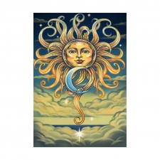 3D Tapestry Intertwined Sun & Moon In the Sky  60x90