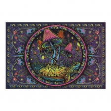 3D Tapestry Psychedelic Mushrooms 60x90