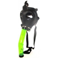 Gas Mask with Acrylic Curved Bong Style No:1