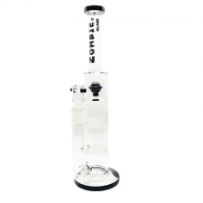 14 Inch Straight Stemless Bubbler with Double Fountain and single Ball Percolator from Zombie Glass CA-115
