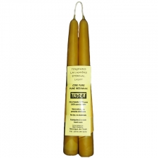 9 Inch Handmade Beeswax Taper Candle ( 1 Pair)