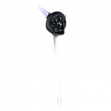Horned Skull Glass Dabber Tool