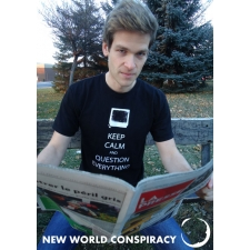Keep Calm Men's T-Shirt from New World Conspiracy