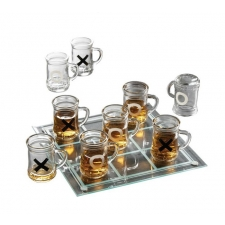 Drinking Game Tic-Tac-Toe Set - Mini Beer Mugs
