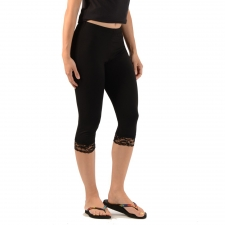 Women's Bamboo 3/4 Lace Leggings -- Eco-Essentials