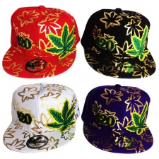 Gold 420 Leaf Hat
