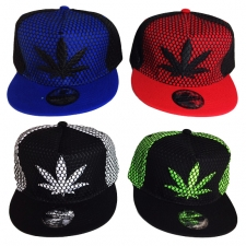 Marijuana Leaf Hat with Net