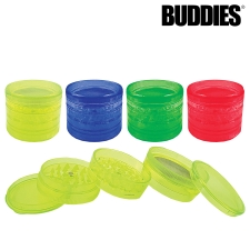 Buddies 4 piece Plastic Sifter Grinder with Magnet and Storage