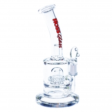 7 Inch Micro Rig with Dome Rig Percolator form Hoss Glass H104