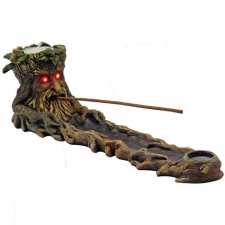 Green man Tree With LED Light Eyes Incense Holder