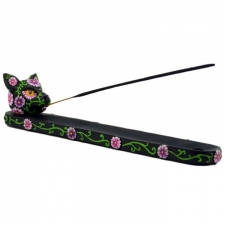 Day of the Dead Cat Incense Holder