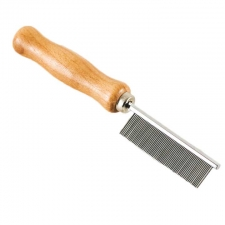 Knotty Boy Professional Dreading Metal Comb with Wood Handle