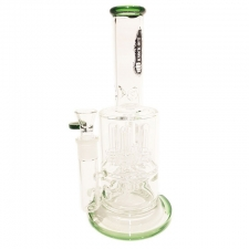 11 Inch Stemless Bong with Quad Dome Percolator and Inline Diffuser from KnockOut