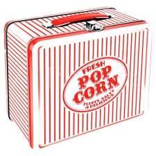 Metal Lunch Box - Vintage Popcorn