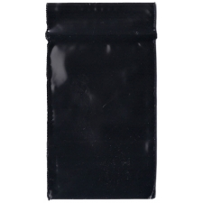 Black 0.75x0.75 Inch Plastic Baggies 100 pcs.