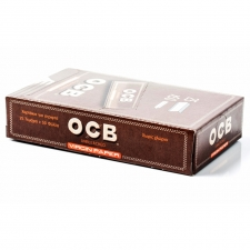 OCB Unbleached 79mm 1 1/4 Rolling Papers Box (25 Packs)