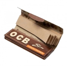 OCB Virgin Unbleached King Size Slim 110mm Rolling Papers with Tips