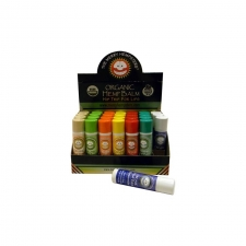 Organic Hemp Lip Balm 7 Flavor Assortment Box of 28 by the Merry Hempsters