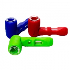 Silicone Pipe with Glass Bowl and Glass Tube
