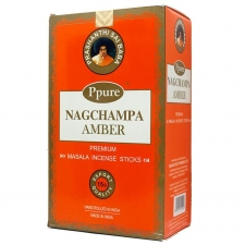 Nag Champa Amber Incense Sticks 15g - Box of 12 Packs