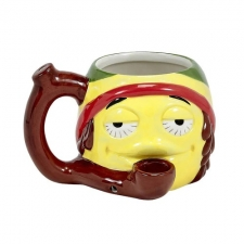 Rasta Stoner Emoji Coffee Mug Pipe from Premium Roast and Toast