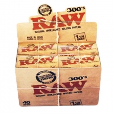 Raw Classic 1 1/4 300 leaves Rolling Papers Box (40 Packs)