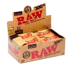 Raw Classic 1 1/4 300 leaves Rolling Papers Box (20 Packs)