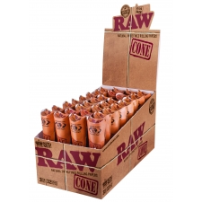 Raw Classic 1 1/4 Pre-Rolled Cone Rolling Papers Box (32 packs)