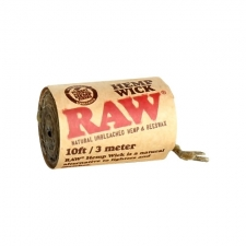 Raw Hemp Roll - 3 meter of Hemp and Beeswax Wick