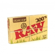 Raw Organic Hemp 1 1/4 300 leaves Rolling Papers