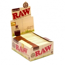Raw Organic Hemp King Size Slim Rolling Papers Box (50 Packs)
