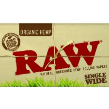 Raw Organic Hemp Single Width Double Window Rolling Papers