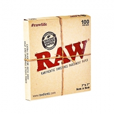 3 x 3 Raw Parchment Paper Sheets - Pack of 100