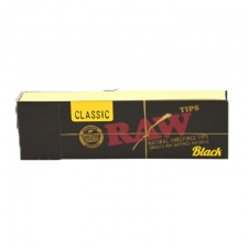 Raw Black Classic Unrefined Tips Regular Pack
