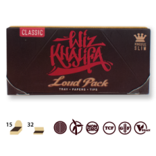 Raw Wiz Khalifa Loud Pack King Size with Tray, Papers, Tips and Bamboo Stick - Single