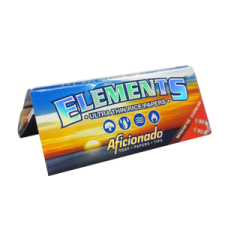 Elements King Size Slim 110mm Artesano Rolling Papers with Tips and Tray 1 Box