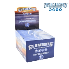 Elements 1 1/4 79mm Connoisseur Rolling Papers with Tips - Box of 24 Pack