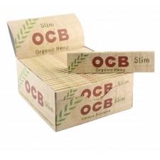 OCB Organic Hemp King Size Slim 110mm Rolling Papers Box of 50 packs