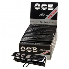 OCB Premium Slim King Size Rolling Papers + Filters Box of 32