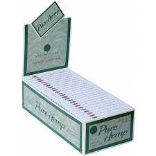 Pure Hemp Single Width Single Window 70mm Rolling Papers Box (50 Packs)