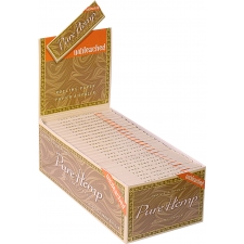 Pure Hemp Single Width Single Window Unbleached 70mm Rolling Papers Box (50 Packs)